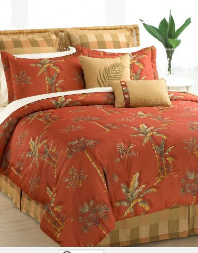 Halmart-Collectibles-Spice-Palm-8-Piece-Comforter-Set-Queen-0 Best Tropical Bedding Sets