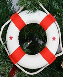 Hampton-Nautical-White-Lifering-with-Red-Bands-Christmas-Tree-Ornament-6-Nautical-Christmas-Tree-Decoration-0