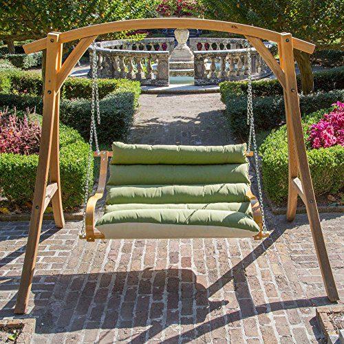 Hatteras Hammocks Spectrum Cilantro Double Swing Chair Beachfront