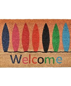 Home-More-121771729-Surfboard-Welcome-Doormat-17-x-29-x-060-Multicolor-0