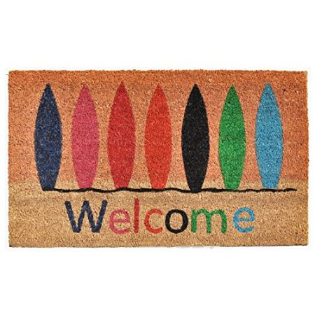 Home-More-121771729-Surfboard-Welcome-Doormat-17-x-29-x-060-Multicolor-0-450x450 Surf Decor & Surfboard Decorations
