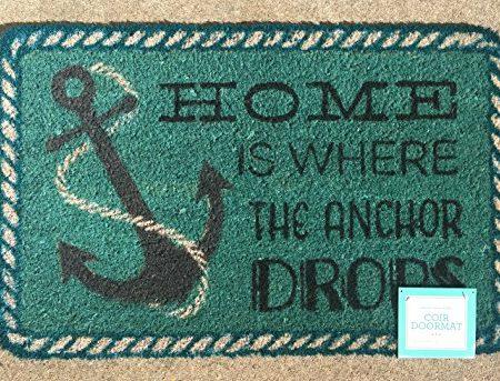 Home-is-Where-the-Anchor-Drops-Coir-Doormat-18-x-28-0-450x343 Nautical Anchor Decor