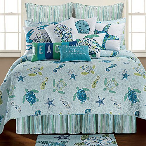 Imperial-Coast-Twin-Quilt-by-C-F-0 Best Tropical Bedding Sets
