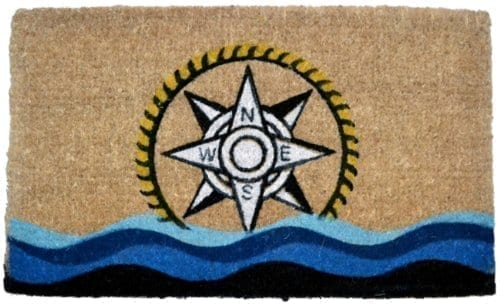 Imports-Decor-Printed-Coir-Doormat-Compass-18-Inch-by-30-Inch-0