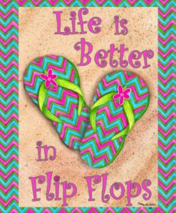 LIFE-IS-BETTER-IN-FLIP-FLOPS-Double-Sided-GARDEN-Size-Decorative-Flag-12-X-18-Inches-0