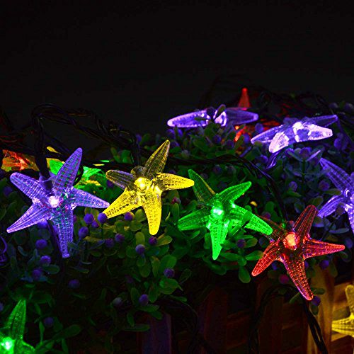 LUCKLED Original Starfish Solar String Lights 20ft 30 LED Fairy Christmas Lights Decorative Lighting For IndoorOutdoor Garden Home Patio Lawn Party And Holiday DecorationsMulti Color 0 4