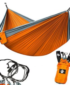 Legit-Camping-Double-Hammock-Lightweight-Parachute-Portable-Hammocks-for-Hiking-Travel-Backpacking-Beach-Yard--Gear-Includes-Nylon-Straps-Steel-Carabiners-0