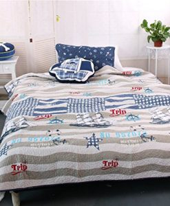 MakeTop-on-the-Trip-Nautical-Theme-Boys-Quilt-Sham-Set-2pc-Twin-0-247x300 The Best Kids Beach Bedding You Can Buy