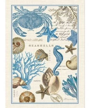 Michel-Design-Works-Seashore-Kitchen-Towel-0-300x360 50+ Beach Hand Towels and Nautical Hand Towels