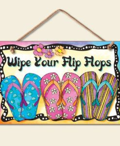 New-Bright-FUN-Wipe-Your-Flip-Flops-Sign-Coastal-Plaque-Tropical-Picture-0-247x300 The Ultimate Guide to Wood Beach Accent Signs