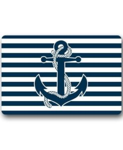 New-Hot-Wind-Custom-Machine-Washable-Door-Mat-Retro-Nautical-Anchor-IndoorOutdoor-Doormat-236-x-157-Inches-0