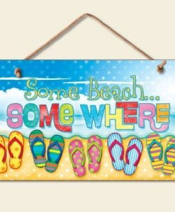 New-Some-Beach-Somewhere-Sign-Flip-Flops-Tropical-Wall-Decor-Coastal-Picture-Art-0-247x300 Best Flip Flop Decor