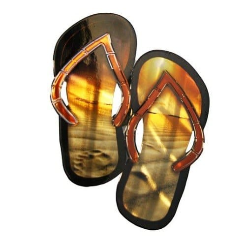 Next-Innovations-WA3DSFFSAND-CB-Flip-Flops-Refraxions-3D-Wall-Art-0 Best Flip Flop Decor