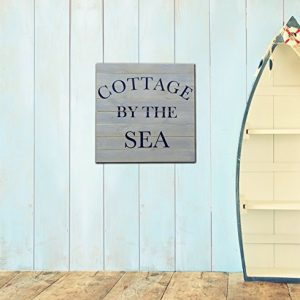 Plank-Wood-Sign-Beach-Decor-Coastal-Typography-Art-Plaque-16x16-Made-from-Real-Wood-Slats-0-300x300 100+ Wooden Beach Signs & Wooden Coastal Signs