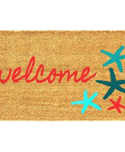 Sand-and-Starfish-18-x-30-Inches-Coco-Coir-Doormat-Beach-Welcome-Mat-0