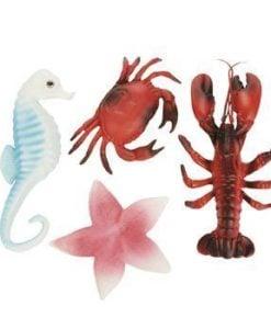 Sea-Life-Creatures-Luau-Party-Plastic-Decor-Lobster-Seahorse-Crab-Starfish-0