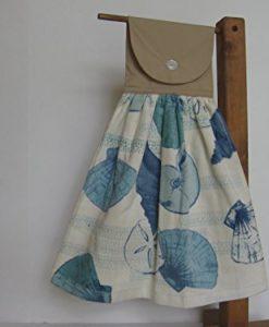 Seashell-Beach-Themed-Kitchen-Tea-Towel-Hanging-Hand-Towel-0