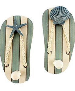 Set-of-2-Wood-Sandal-Wall-Hooks-New-0