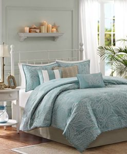 Soft-Blue-Seashells-Starfish-Beach-House-Island-CAL-King-Comforter-Set-7-Piece-Bed-In-A-Bag-HOMEMADE-WAX-MELT-0-247x300 The Ultimate Guide to Tropical Bedding Sets