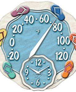 Springfield-12-Sandals-Poly-Resin-Thermometer-with-Clock-0-247x300 Best Flip Flop Decor