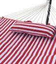 Sundale-Outdoor-Stripe-Cotton-Rope-Hammock-with-12-Feet-Steel-Stand-Quilted-Polyester-Pad-and-Pillow-0-0