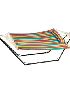 Sunnydaze-Cotton-Fabric-Hammock-Hammock-and-Stand-Combo-or-Hammock-Stand-ONLY-Select-your-Options-0-247x300 The Best Outdoor Hammock Options You Can Buy