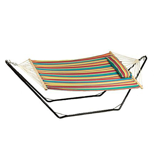 Sunnydaze-Cotton-Fabric-Hammock-Hammock-and-Stand-Combo-or-Hammock-Stand-ONLY-Select-your-Options-0 The Best Outdoor Hammock Options You Can Buy