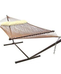 Sunnydaze-Polyester-Rope-Hammock-with-Spreader-Bars-0