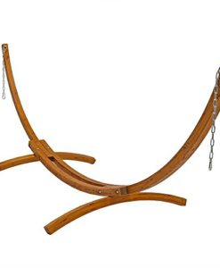 Sunnydaze-Wooden-Curved-Arc-Hammock-Stand-or-Hammock-and-Stand-Set-0