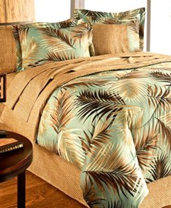TROPICAL-PALM-TREE-LEAFLEAVES-OCEAN-BEACH-Coastal-Bedding-8-Pieces-Comforter-Set-Bed-in-a-Bag-0-247x300 The Best Palm Tree Comforter and Bedding Sets