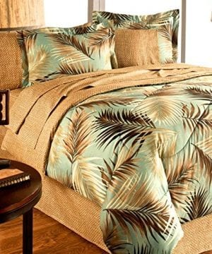 TROPICAL-PALM-TREE-LEAFLEAVES-OCEAN-BEACH-Coastal-Bedding-8-Pieces-Comforter-Set-Bed-in-a-Bag-0-300x360 100+ Palm Tree Bedding Sets, Comforters, Quilts & Duvet Covers