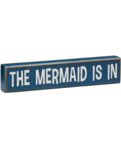 The-Mermaid-Is-In-Vintage-Coastal-Mini-Wood-Sign-8-in-0