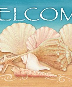 Toland-Home-Garden-Welcome-Shells-IndoorOutdoor-Standard-Mat-18-x-30-0