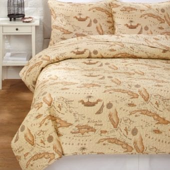 Western Peak Tropical Starfish Sea Shell Quilt Set