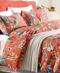Tropical-Garden-Luxury-3-Piece-Duvet-Cover-Set-Island-Tree-Branch-and-Birds-Multicolored-Floral-Pattern-100-percent-brushed-Cotton-Twill-0-247x300 Hawaii Themed Bedding Sets