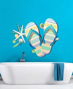 Tropical-Retreat-Relax-Beach-Flip-Flops-Wall-Decal-0-247x300 Best Flip Flop Decor