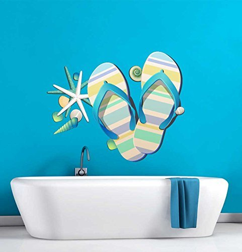 Tropical-Retreat-Relax-Beach-Flip-Flops-Wall-Decal-0 Best Flip Flop Decor