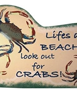 Tropical-Tiki-Lifes-A-Beach-Crab-Wood-Sign-Plaque-0