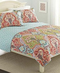 Turquoise-Coral-Tropical-Beach-Damask-Full-Queen-Quilt-Shams-3-Piece-Bedding-Set-0-247x300 The Best Kids Beach Bedding You Can Buy