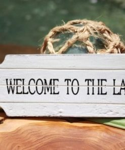 Welcome-To-The-Lake-Door-Tag-Wood-Sign-8-Rustic-Coastal-0-247x296 100+ Wooden Beach Signs and Wooden Coastal Signs