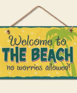 Welcome-to-the-Beach-Sign-Coastal-Plaque-Tropical-Palm-Tree-Wall-Decor-0