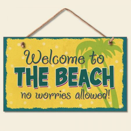 Welcome-to-the-Beach-Sign-Coastal-Plaque-Tropical-Palm-Tree-Wall-Decor-0-450x450 100+ Wooden Beach Signs and Wooden Coastal Signs