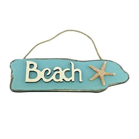 Wooden-Beach-Sign-with-Starfish-95-Inches-Long-0-450x450 100+ Wooden Beach Signs and Wooden Coastal Signs