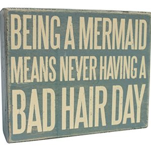 Wooden-Box-Sign-Being-A-Mermaid-Means-Never-Having-A-Bad-Hair-Day-0-300x300 100+ Wooden Beach Signs & Wooden Coastal Signs