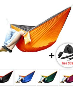 Yes4All-Double-and-Single-Hammocks-Ultralight-Portable-Nylon-Parachute-Hammock-for-Light-Travel-Camping-Hiking-Backpacking-Hammock-Stuff-Bag-Included-0