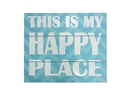 Youngs-Wood-Happy-Place-Wall-Sign-1575-0 100+ Wooden Beach Signs and Wooden Coastal Signs