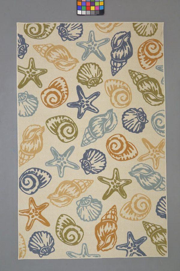 Elegant Soho Multi Seashell Rug