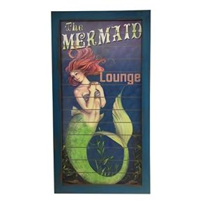 mermaid-lounge-wooden-sign-300x300 100+ Wooden Beach Signs & Wooden Coastal Signs