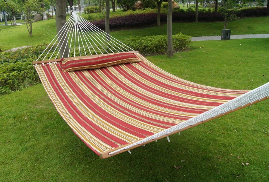 outdoor quilted fabric hammock