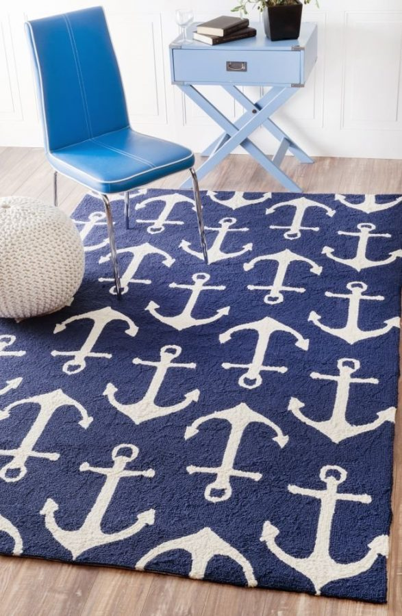 17-anchor-trellis-rug The Ultimate Guide to Nautical Themed Area Rugs